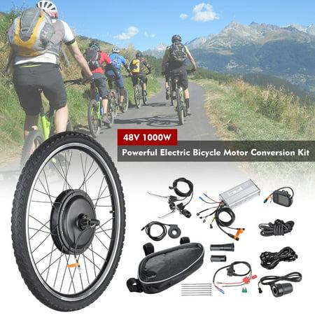 "26""x1.75"" 48V 1000W Electric Bicycle Motor Conversion Kit Front Wheel E-Bike"