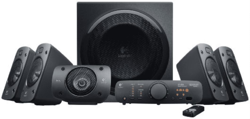 Logitech Z906 5.1-Channel 500W Dolby Surround Subwoofer, Black by Logitech