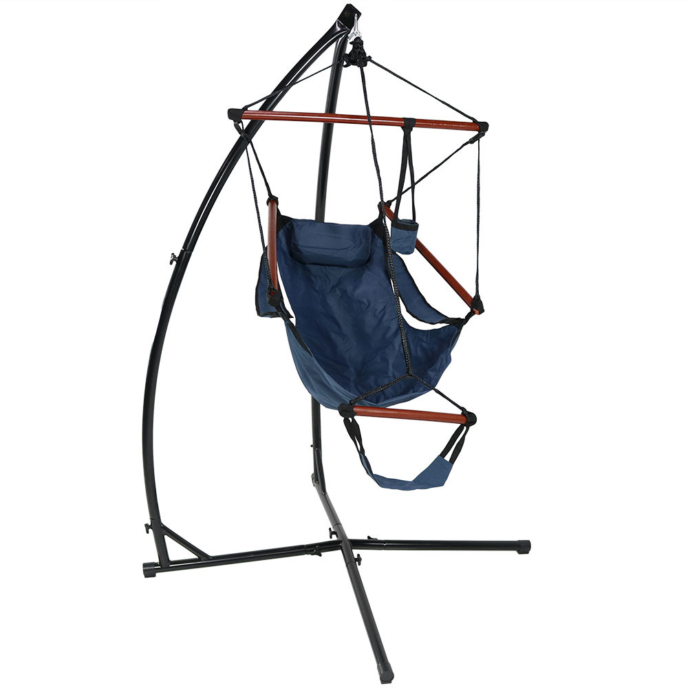 "Sunnydaze Durable ""X"" Stand and Hanging Hammock Chair Set or ""X"" Chair Stand ONLY - You Choose, DL-XHSHC-Parent"