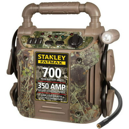 Stanley 700 Amp Camo Jump Starter with Air