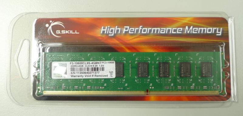 4GB G.Skill DDR3 PC3-10600 1333MHz CL9 NT Series Desktop memory module
