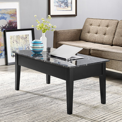 Dorel Home Faux Marble Lift Top Coffee Table