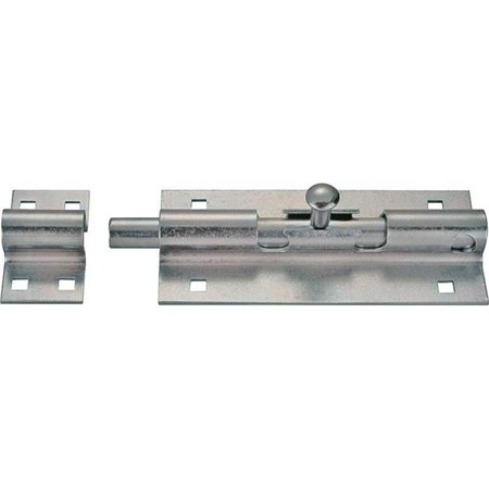 6 in. Lockable Barrel Bolt, Zinc Plated (Beretta Neos 6 Inch Barrel For Sale)