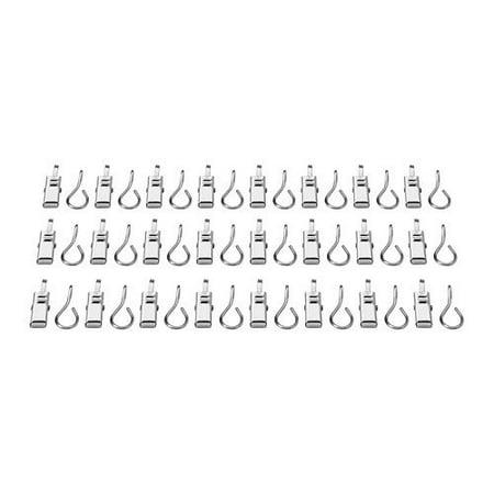 Ikea 802.122.01 Riktig Curtain Hook with Clip, 24-Pack ()