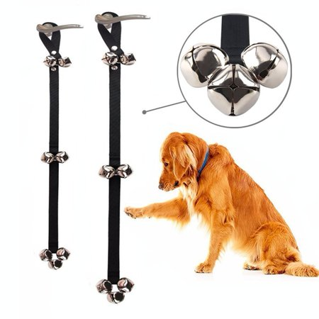 Clicker Adjustable Locks (Pack of 2 Dog Doorbells 7 Extra Loud Bells, Adjustable Dog Outside Bell for Puppy Potty Training,Doggy Bell for Door-Included 2 Upgrade Training)