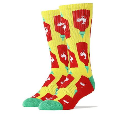 Holy Sriracha! Men's Crew Socks (Sriracha Socks)