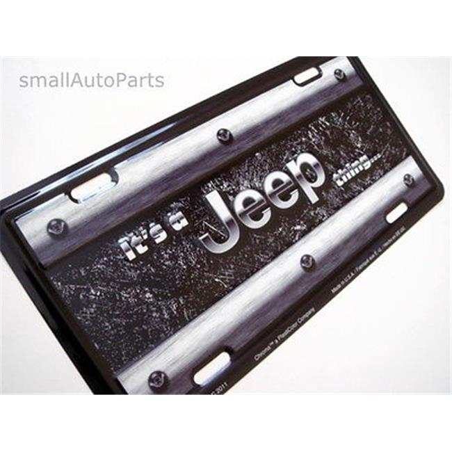 Chroma-Graphics Aluminum License Plate - Its A Jeep Thing