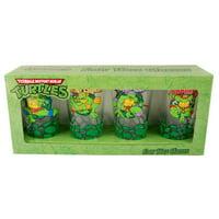 Teenage Mutant Ninja Turtle Pint Glass Set of 4 by Just Funky