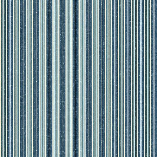 Blue Mountain Haliburton Stripe Wallcovering, Dark Blue/Beige