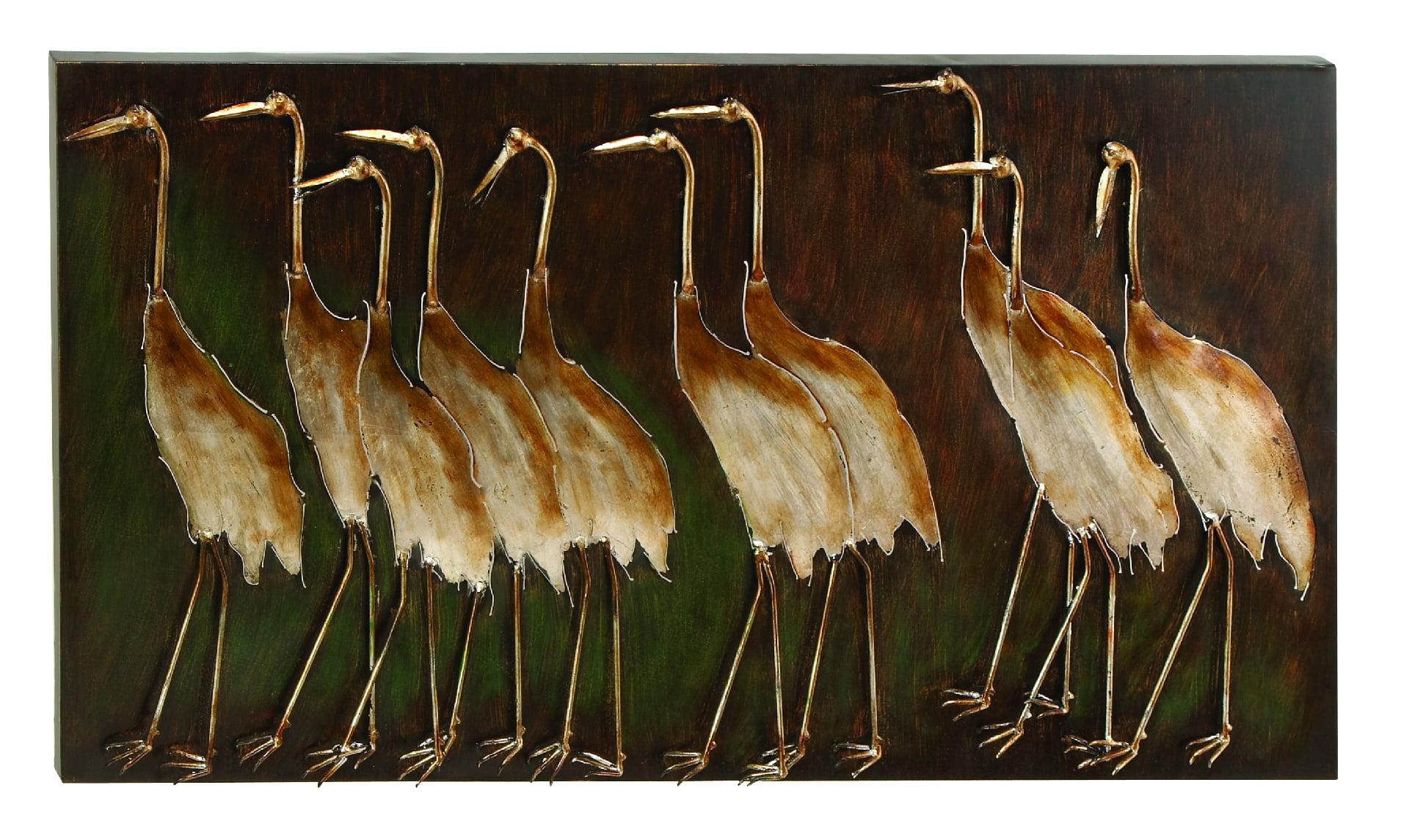 Metal Bird Wall Plaque Unique GardenDecor by Benzara