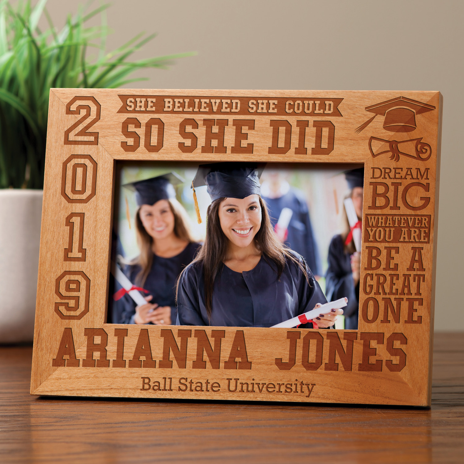 Personalized So She Did 2019 Graduation Frame
