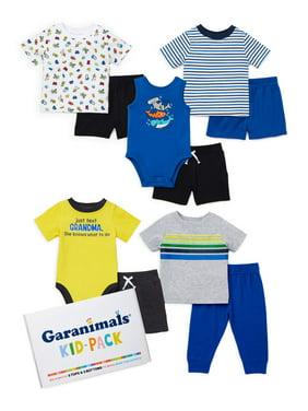Garanimals Baby Boy Blue Stripe Kid-Pack Gift Box, 10pc Set