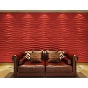 Contempo Living Inc 3D Wall Panels Plant Fiber Sands Design (6 Panels Per Box)