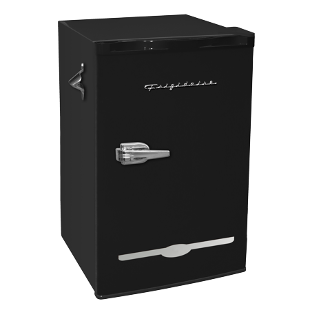 Frigidaire 3.2 Cu Ft Retro Mini Fridge With Side Bottle Opener, Black