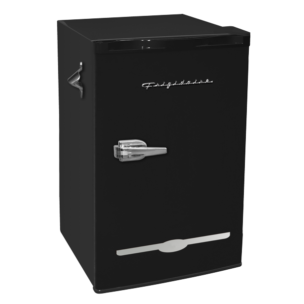Frigidaire 3.2 Cu. Ft. Retro Compact Refrigerator with Side Bottle Opener EFR376, Black