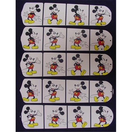Ceiling Fan Designers 52SET-DIS-DMMW Disney Mickey Mouse no.2 52 in. Ceiling Fan Blades Only (Harbor Breeze Ceiling Fan Blades)