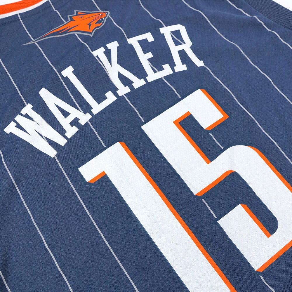 11e8c705a03 Kemba Walker Charlotte Bobcats NBA Adidas Men s Grey Official Replica  Jersey - Walmart.com
