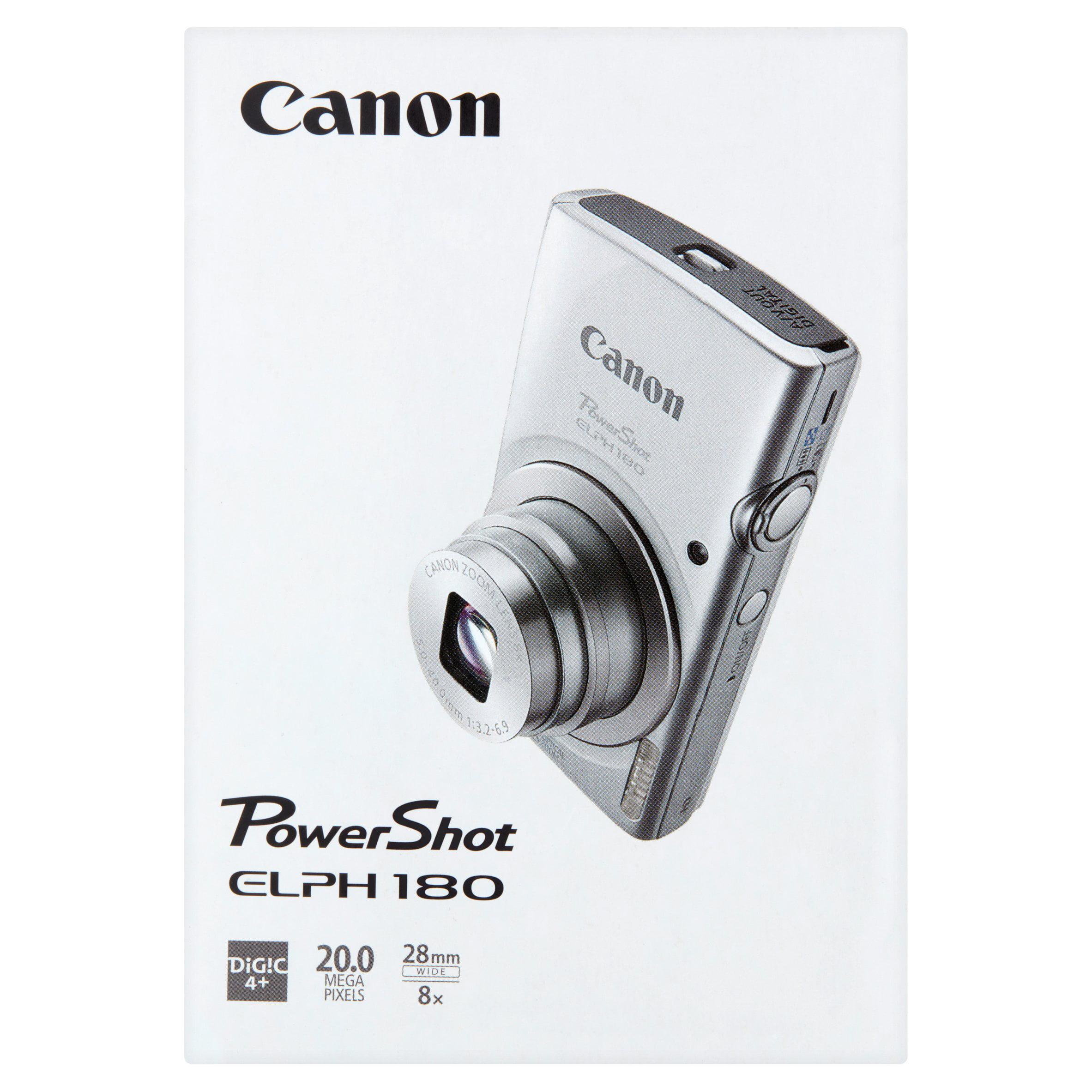 Canon Silver PowerShot ELPH 180 Digital Camera