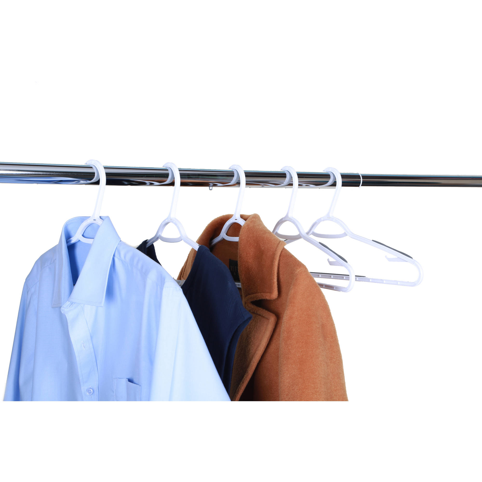 Mainstays Non-Slip Hangers White & Grey, 30-Pack