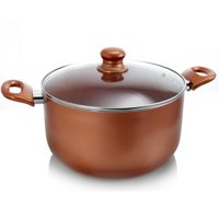 Better Chef 8 Qt. Copper Colored Ceramic Coated Dutchoven with Glass Lid