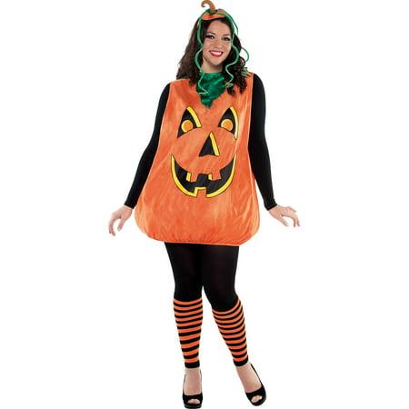 Adult Pretty Pumpkin Costume Plus Size