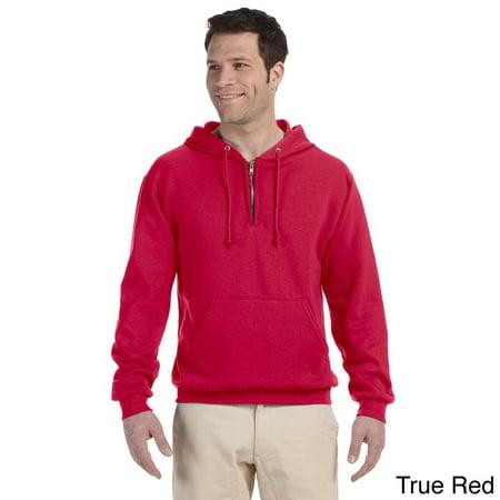 Jerzees Mens 50 50 Nublend Fleece Quarter Zip Pullover Hoodie