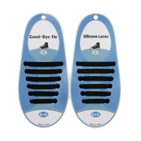No Tie Shoelaces for Kids, Men & Women   Waterproof & Stretchy Silicone Flat Elastic Shoe Laces   for Athletic, Sneaker, Hiking Boots, Board & Casual Shoe   Eliminate Loose Shoelace
