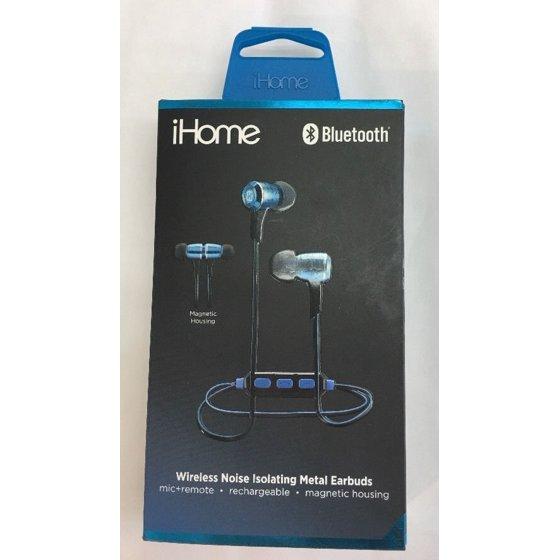 d046042faeb iHome iB29LC Wireless Noise Isolating Metal Earbuds - Walmart.com