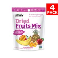 Planty Dried Fruit Snacks, No Sugar Added, Non-GMO, Vegan and Kosher Certified (Fruit Mix, 4-Pack)