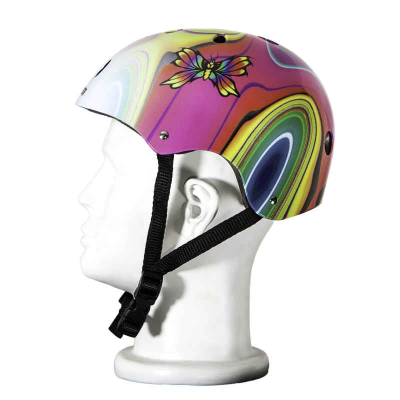 Punisher Skateboards Butterfly Jive Pink and White Adjustable All-Sport Skate-Style Helmet, Medium by Generic