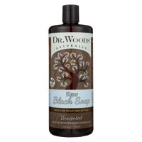 Dr. Woods Raw Moisturizing Black Unscented Soap with Organic Shea Butter, 32 Ounce