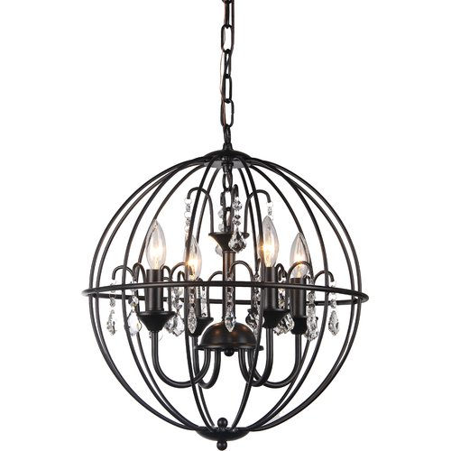 Warehouse of Tiffany 4-Light Globe Pendant