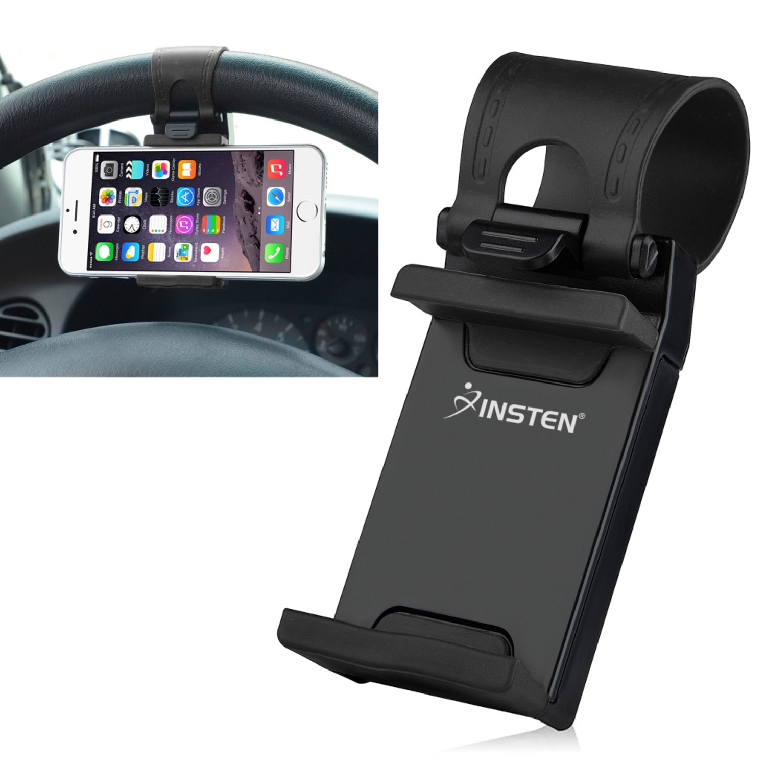 1c5eda797200c SOAIY 3-in-1 Cigarette Lighter Phone Holder Cradle Gooseneck Car Mount  Charger with Dual USB 3.1A Charging Ports for iPhone X 8 8 Plus 7 7 Plus 6  6s Plus