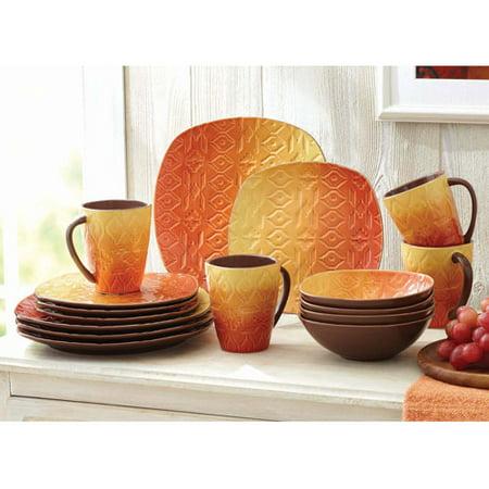 Amazing Orange Square Dinnerware Sets Contemporary - Best Image ...