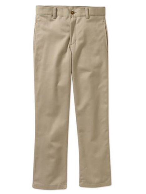 Boys Slim Flat Front Twill Pant With Scotchguard