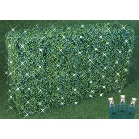 Novelty Lights Commercial Grade Christmas LED Net Light Set, 4' X 6', Green Wire, 100 Light - Novelty Christmas Lights