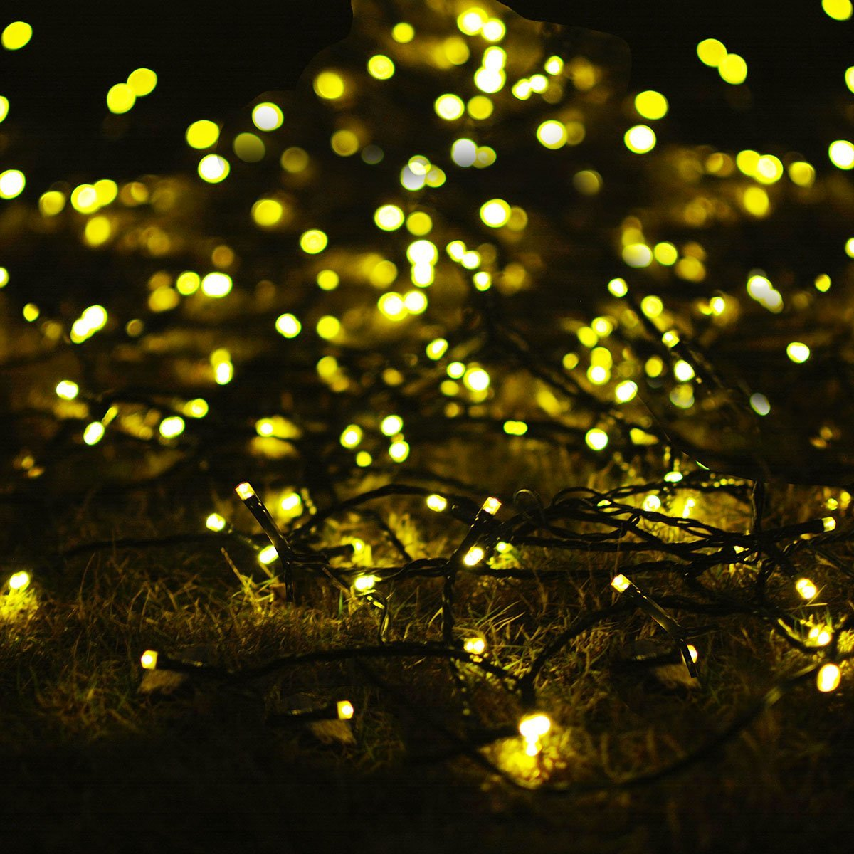 (2-Packs)Solar Outdoor Lights 72ft 200 LED Halloween Fairy String Lights for Gardens,Homes,Wedding,Party,Waterproof(Warm White) - image 14 of 15