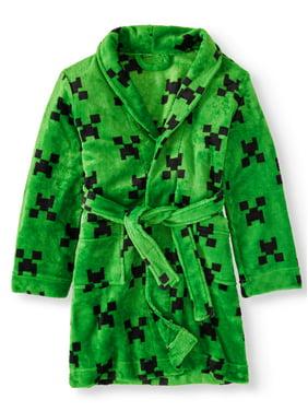 Boy's Minecraft pajama robe (big Boy)