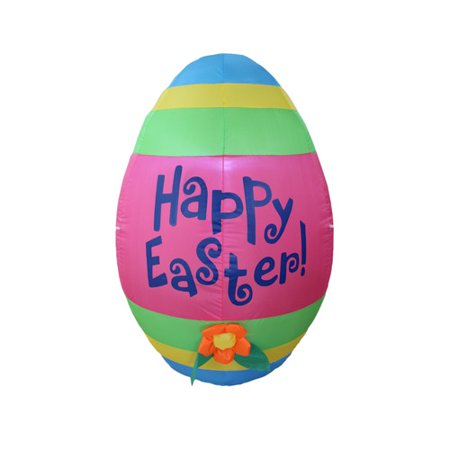 BZB Goods Inflatable Cute Colorful Giant Easter Egg with Flower Decoration - Easter Goods