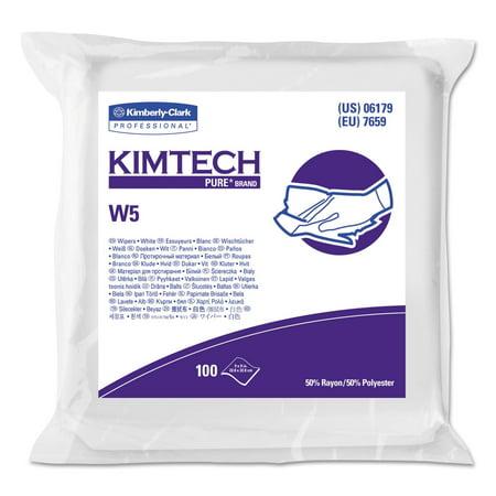 Critical Task Wipers (W5 Critical Task Wipers, Flat Double Bag, Spunlace, 9x9, White, 100/Pk, 5/Carton )