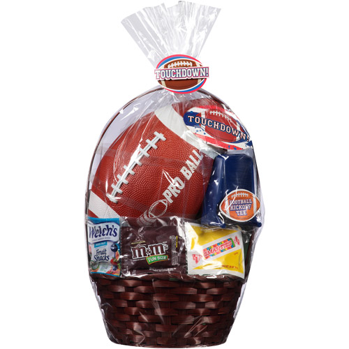 Touchdown! Easter Basket with Football, Tee and Assorted Candies