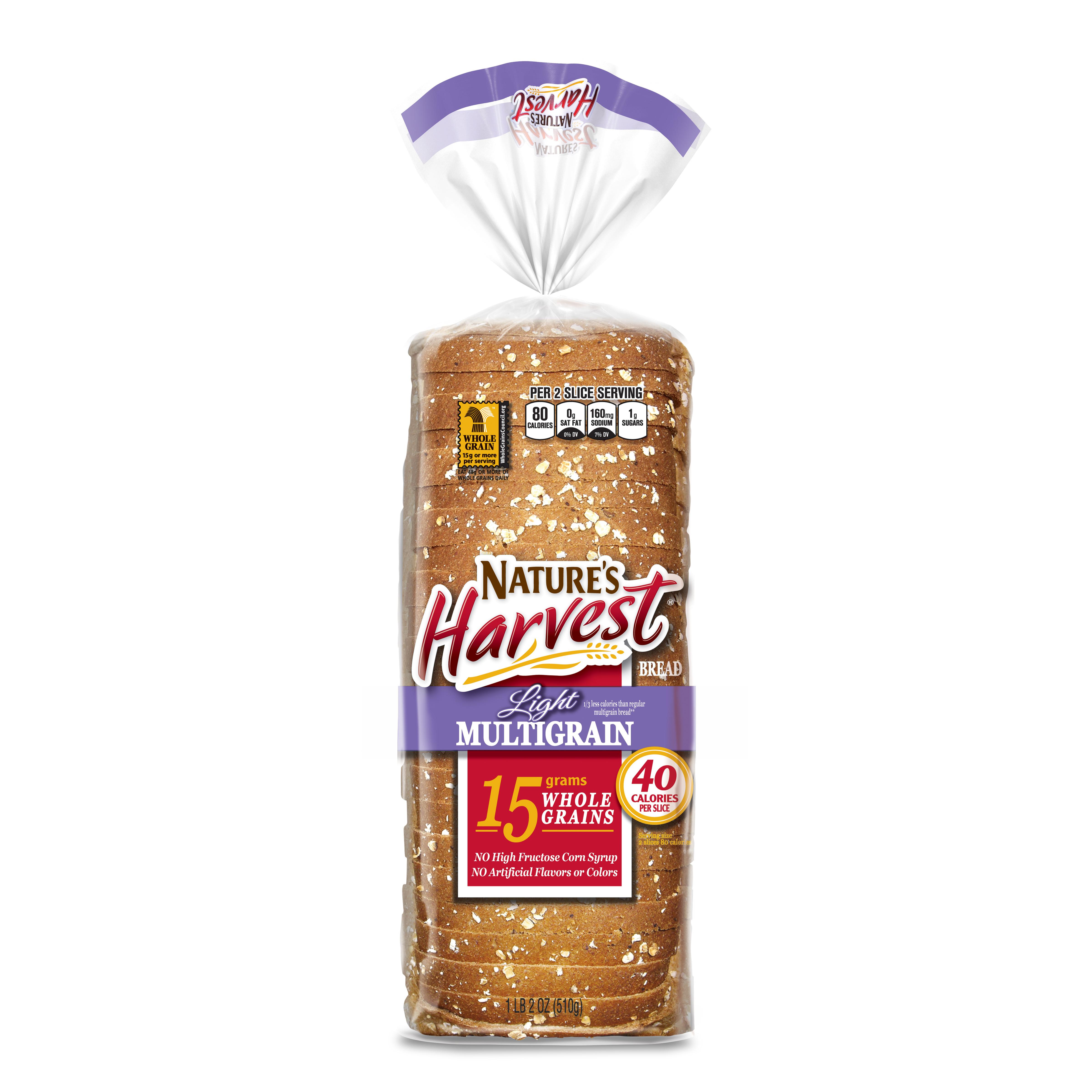 Nature's Harvest Light Multigrain Bread 18 oz
