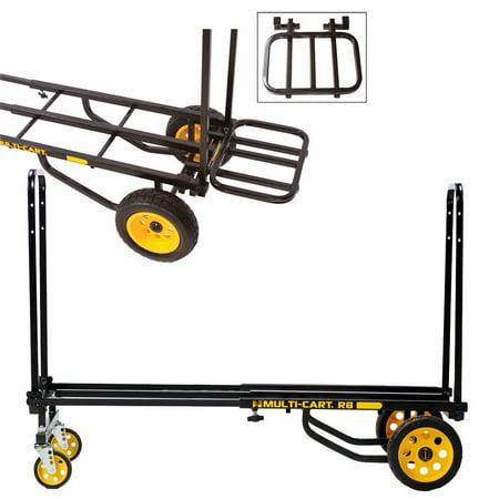 Rock N Roller R8RT Equipment Cart  with RRK1 Cargo Extension Rack