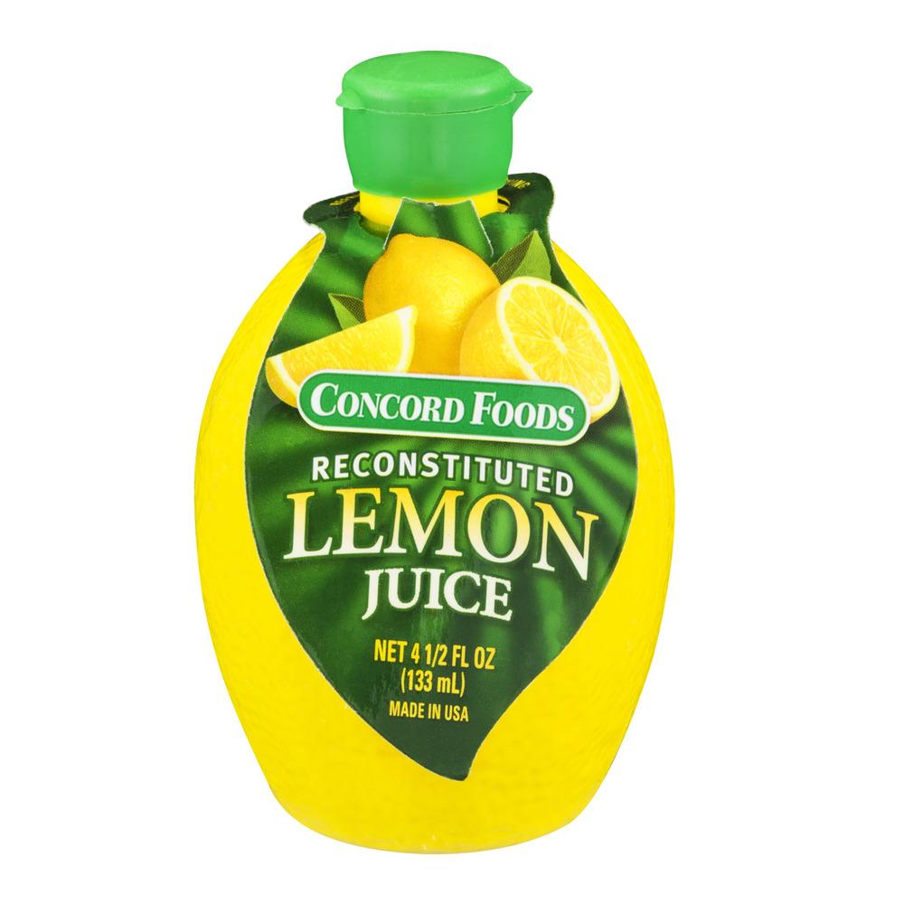 Concord Foods Reconstituted Lemon Juice, 4.5 FL OZ