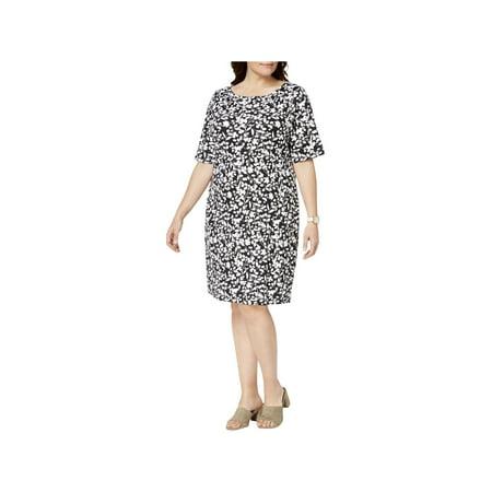 Short Toga Dress (Karen Scott Sports Womens Plus Yoga Fitness)