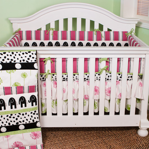 Cotton Tale Hottsie Dottsie 4 Piece Crib Bedding Set