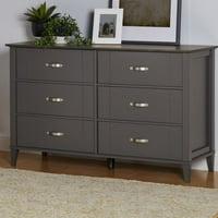 Ameriwood Home Quinn 6 Drawer Dresser, Multiple Colors