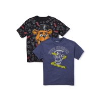 Five Nights at Freddy's Boys 4-18 Tape & All Over Print Graphic T-Shirt, 2-Pack
