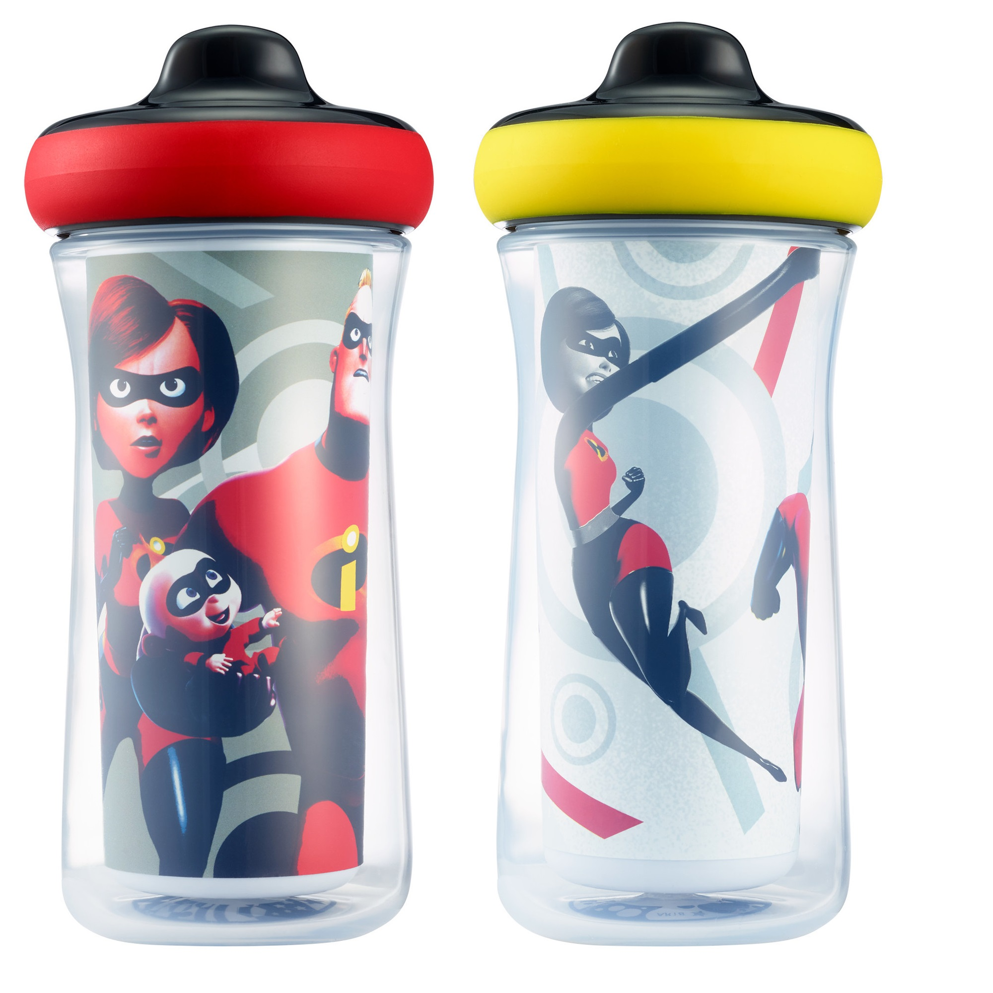 Disney Pixar Incredibles Insulated Hard Spout Sippy Cups, 9 Oz, 2 Pk
