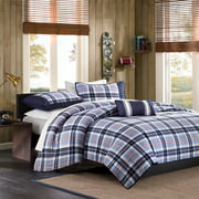 Home Essence Teen Lance Plaid Coverlet Bedding Set